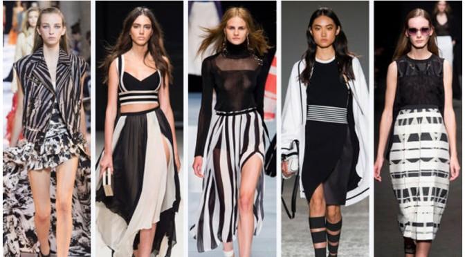 Fashionista in alb si negru