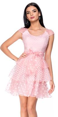 Rochie de ocazie Zonia - baby doll, roz