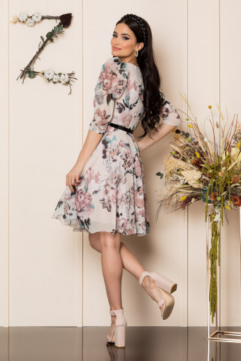 Rochie Magda Nude Floral