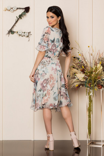 Rochie Hanelore Nude Floral