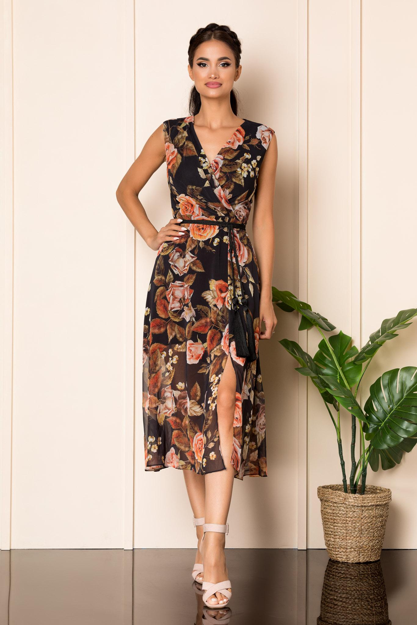 Rochie Cassidy Negru Floral