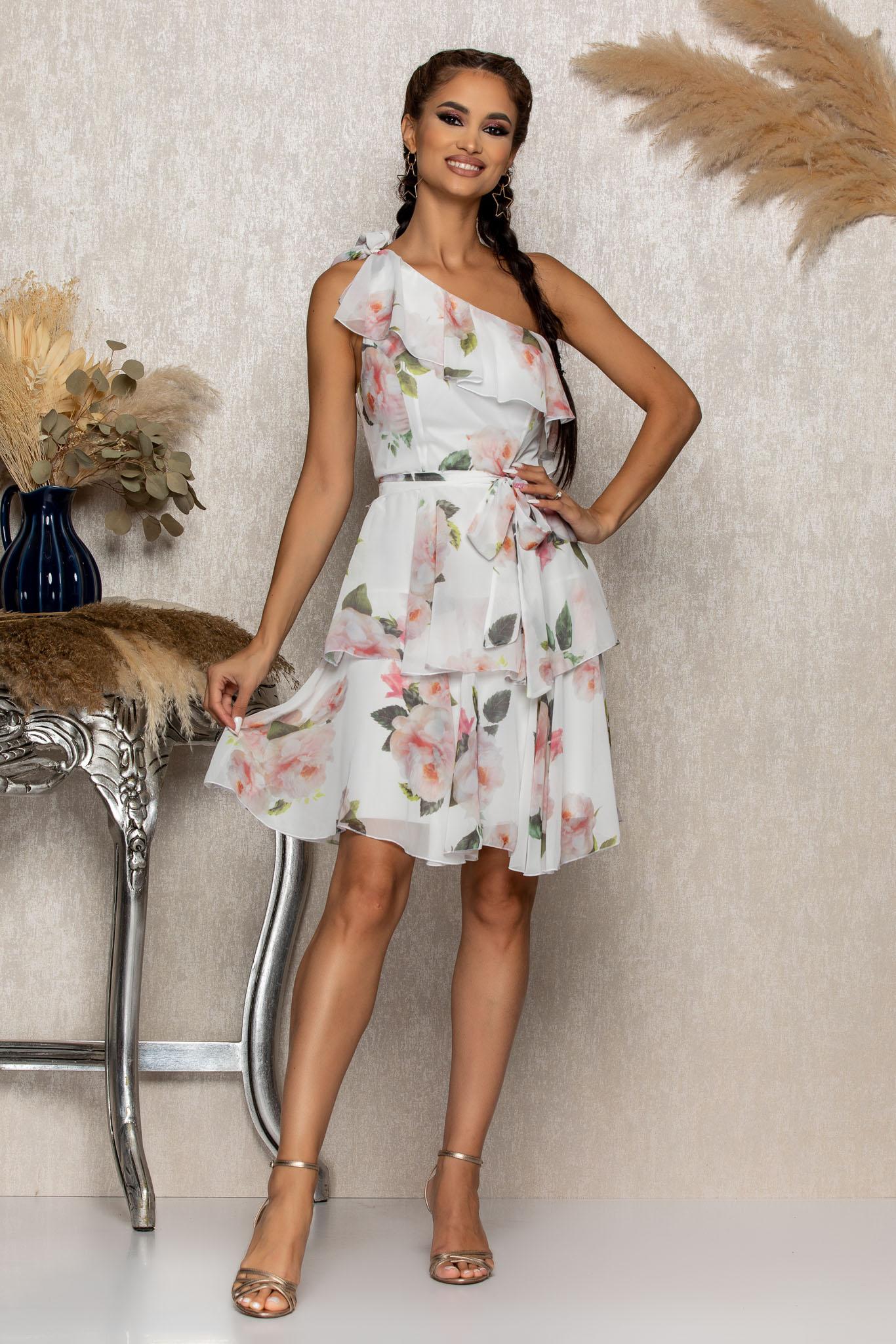 Rochie Zorra Alb Floral