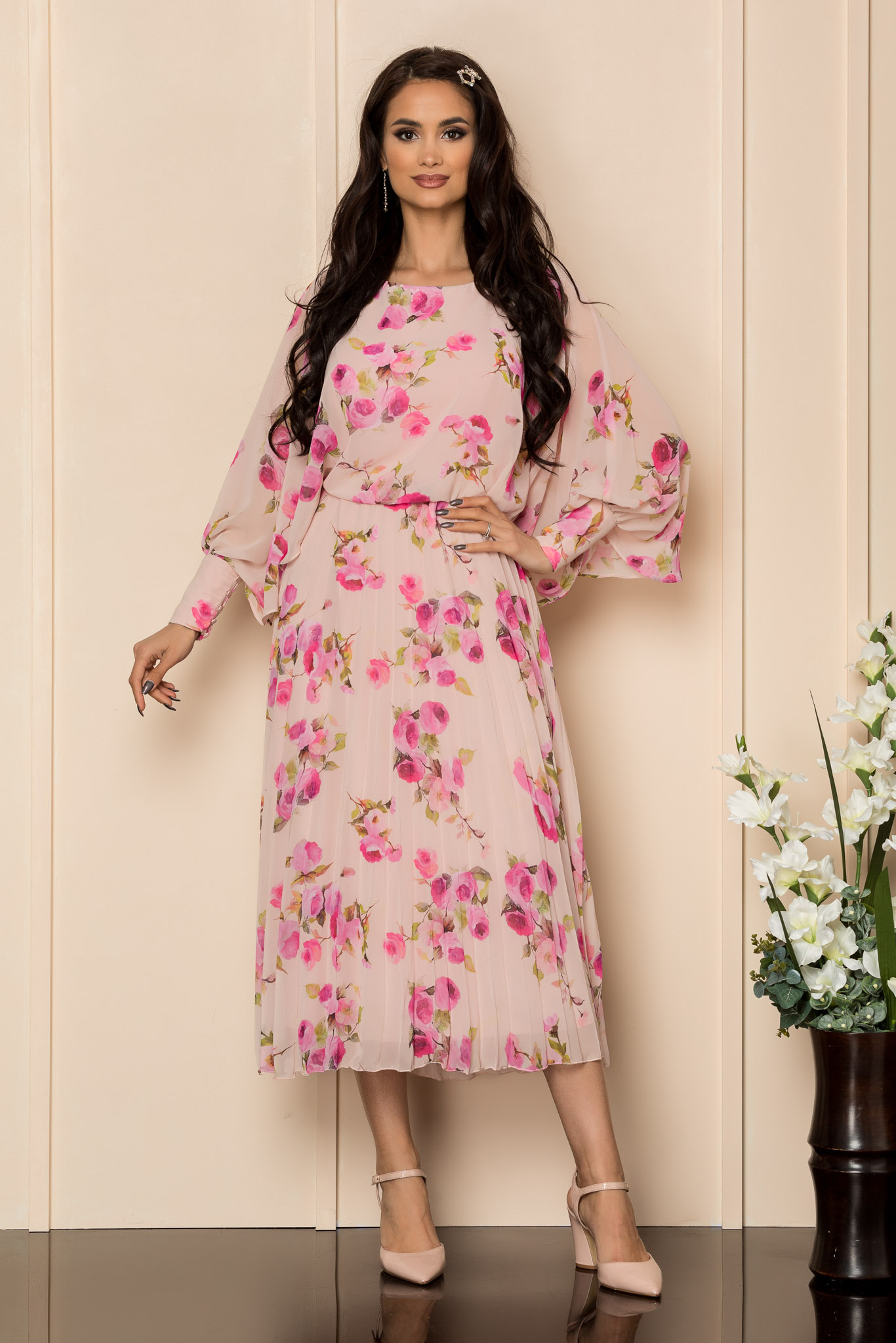 Rochie Angy Rose Floral