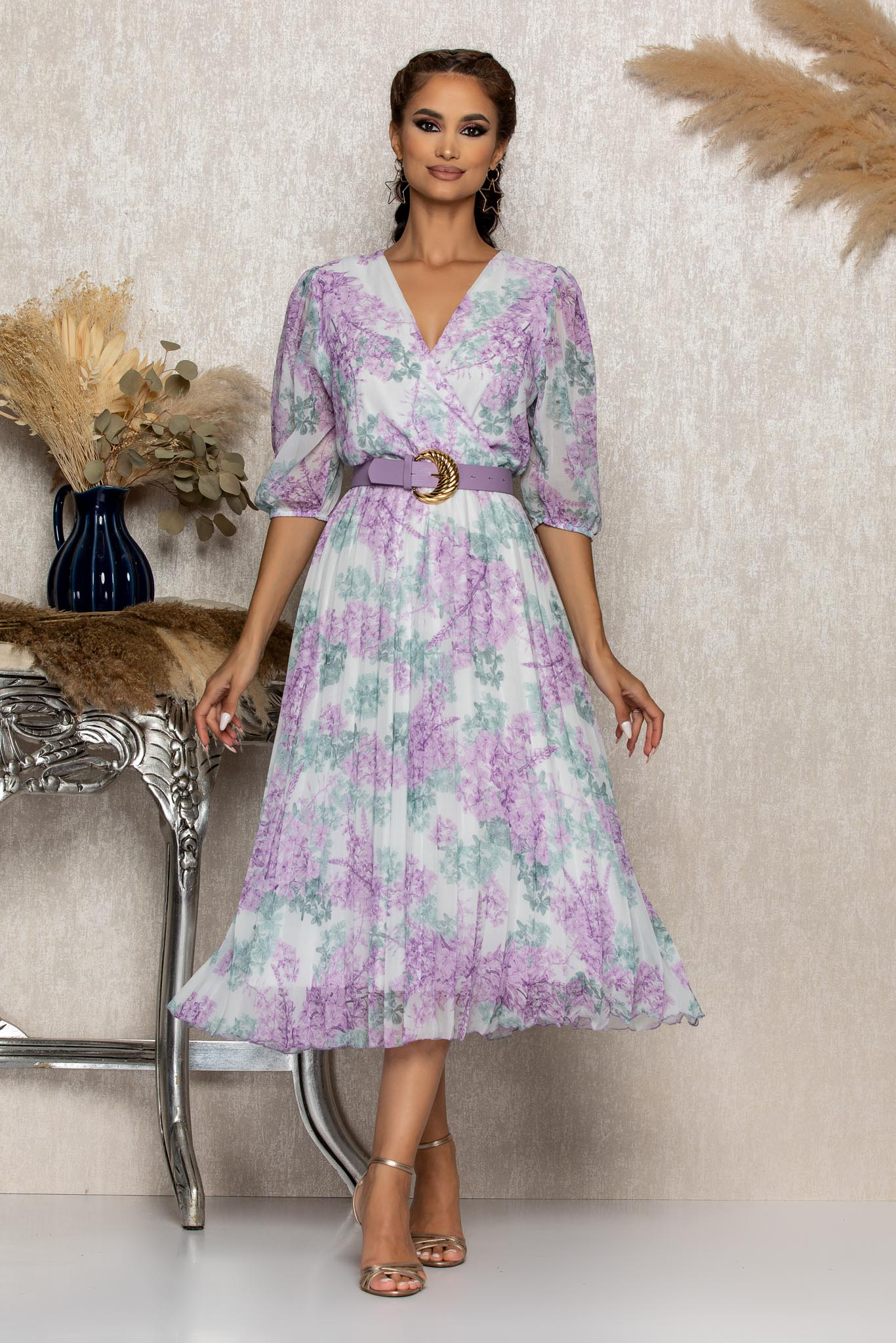 Rochie Cryna Lila Floral