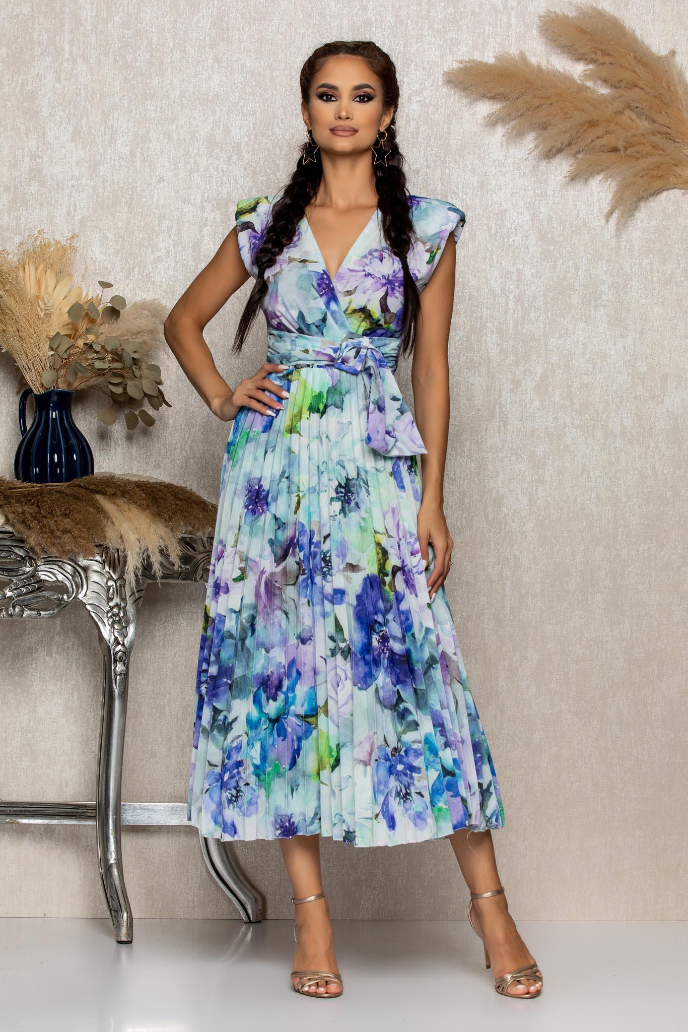 Rochie Carmen Albastru Floral