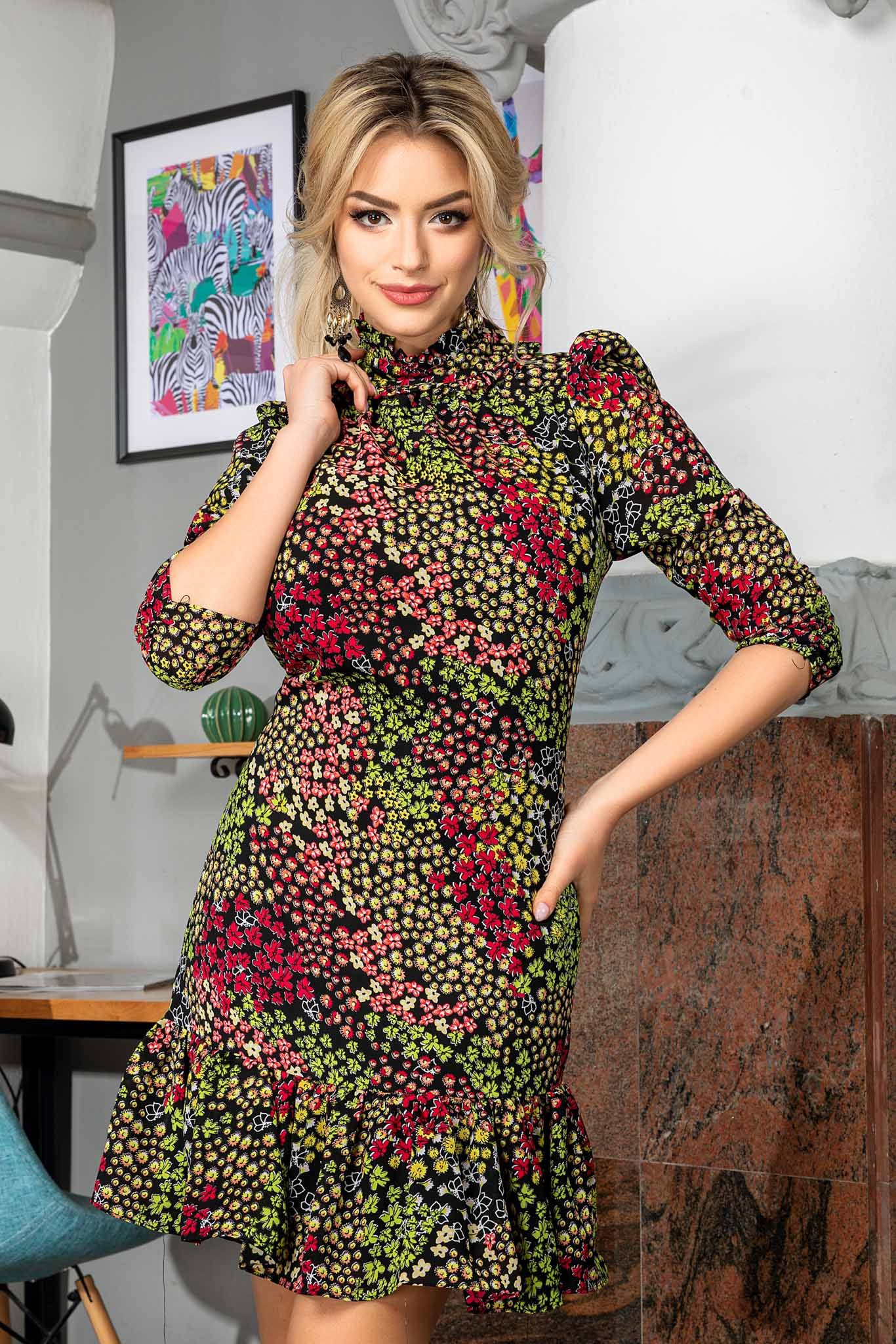 Rochie Angie Multi Floral