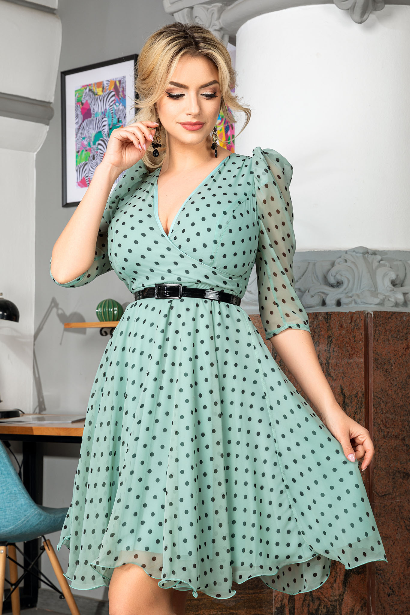 Rochie Magda Mint