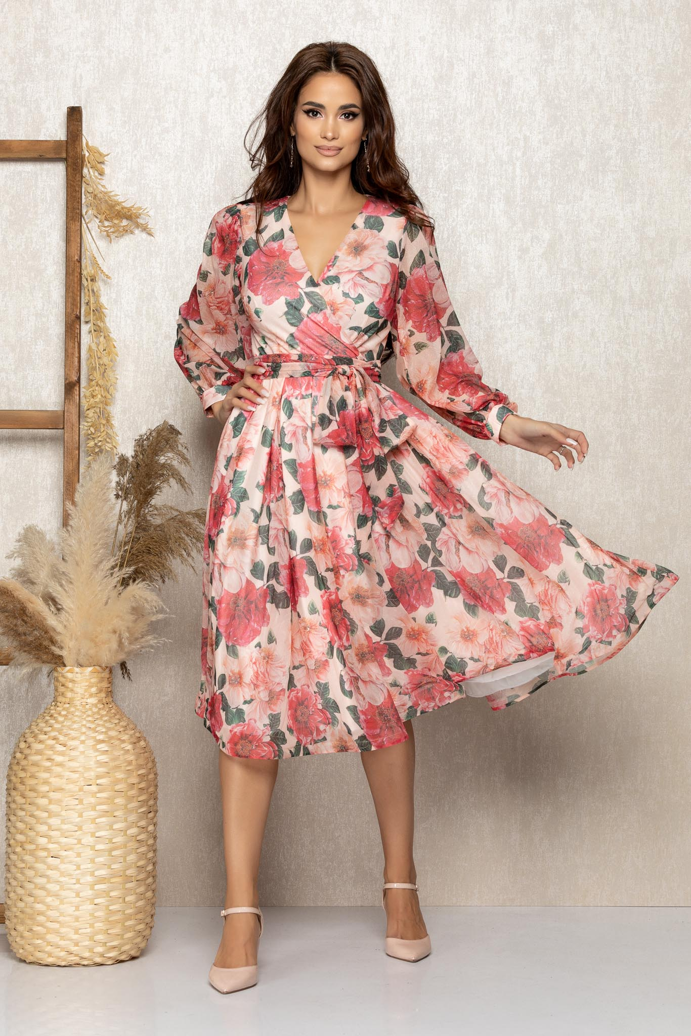 Rochie Roza Floral