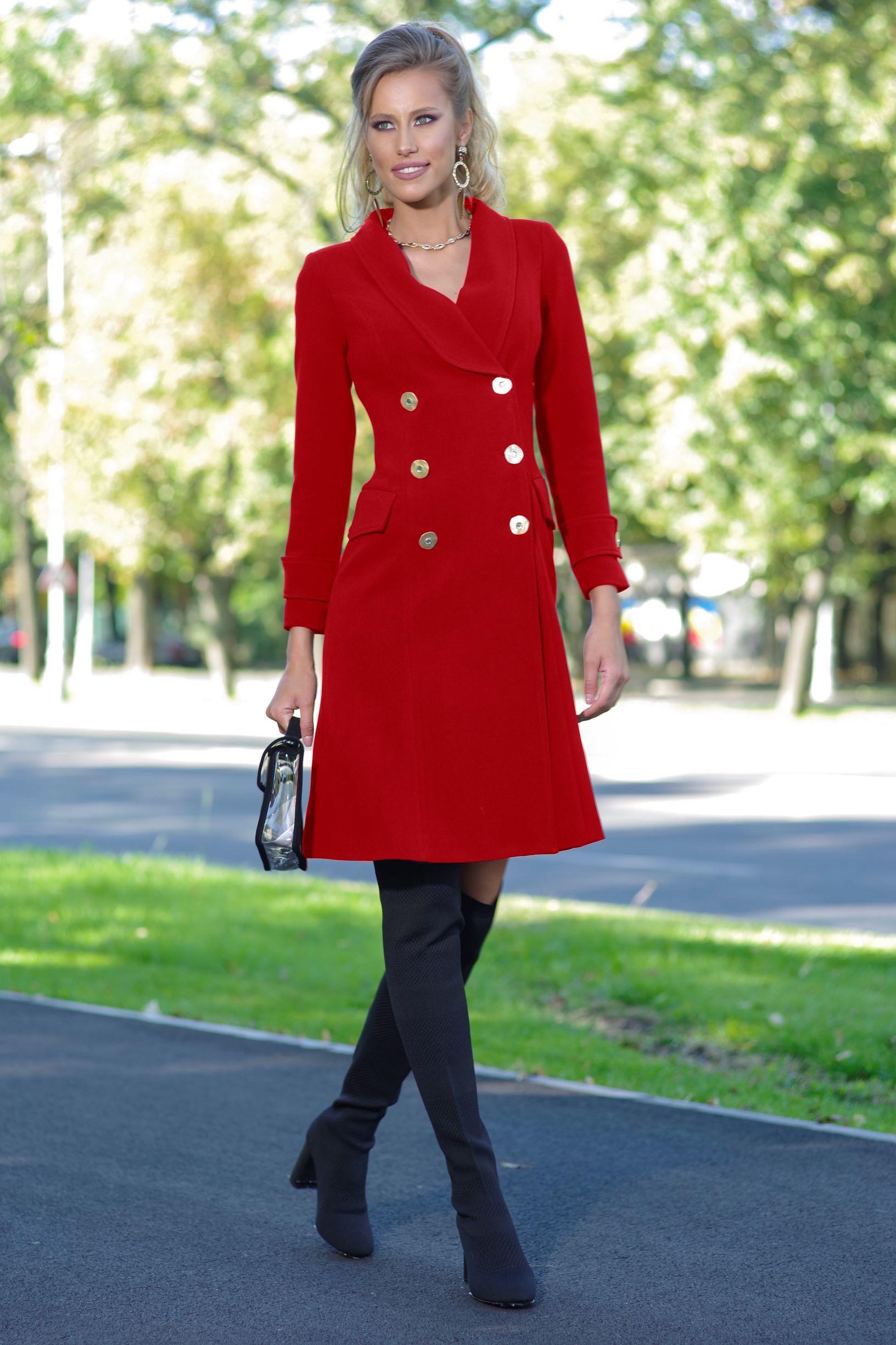 Palton Sandy Rosu thumbnail