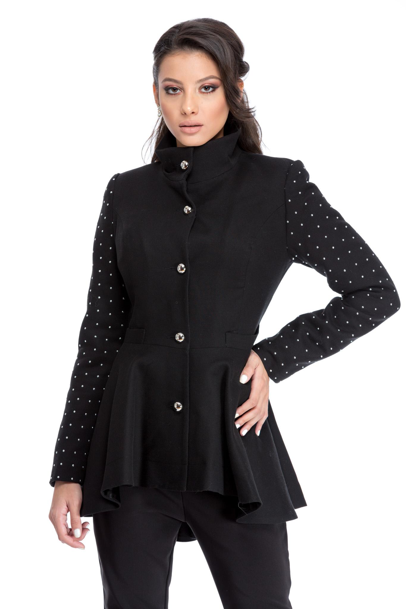 palton carol negru