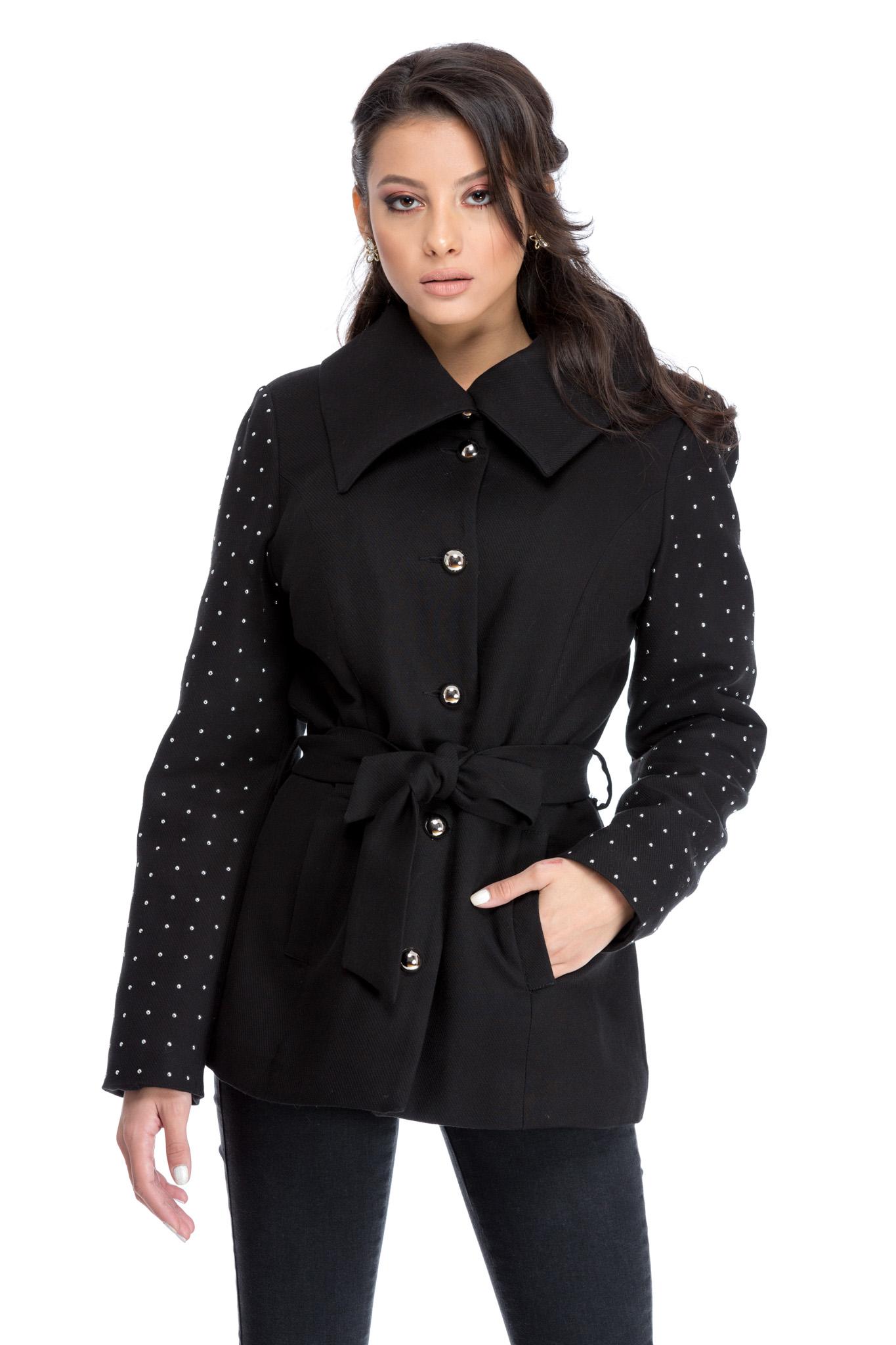 palton sandy negru