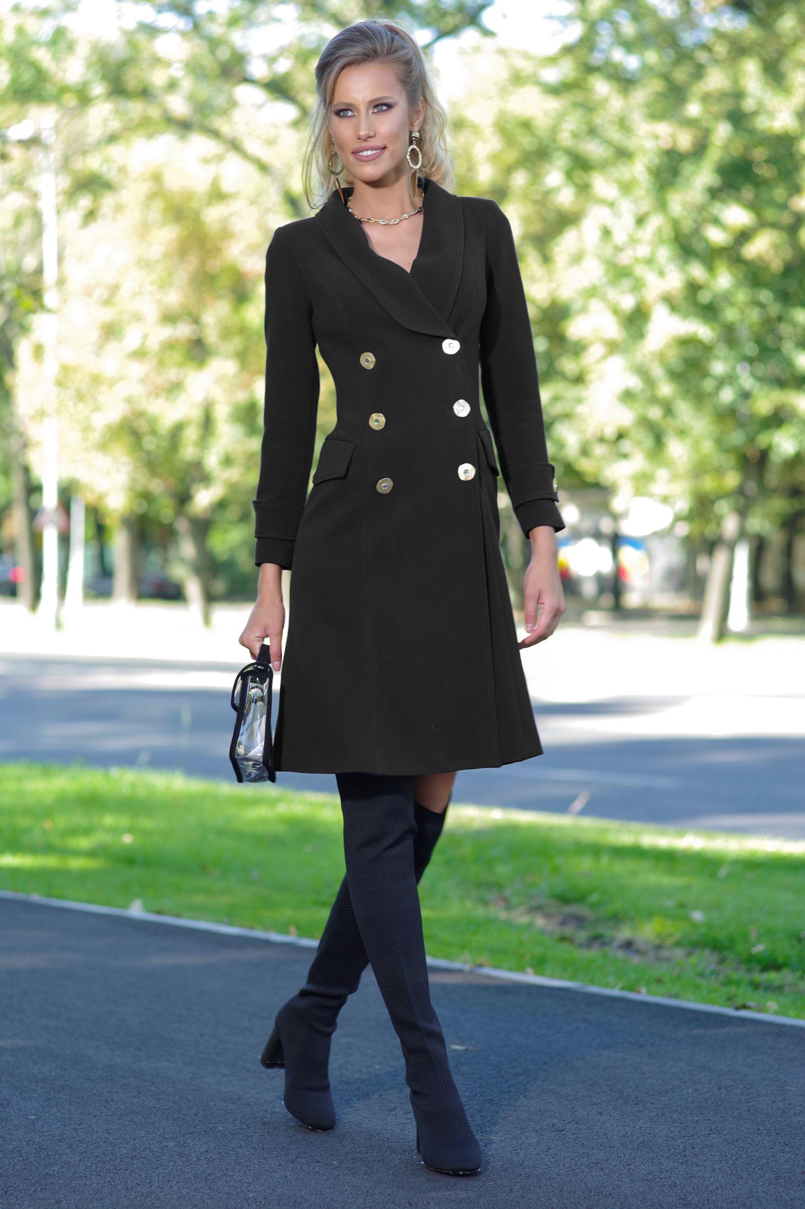Palton Sandy Negru thumbnail