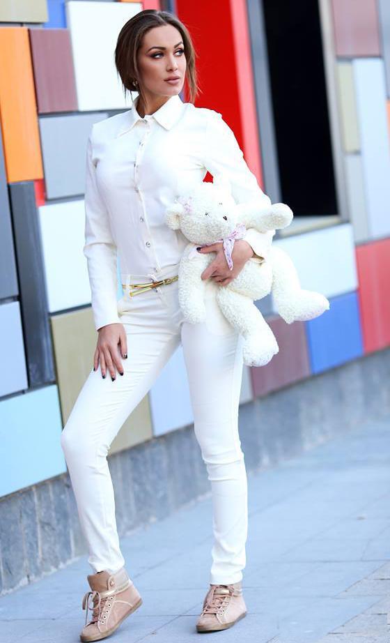 Pantaloni Enjoy Ivory