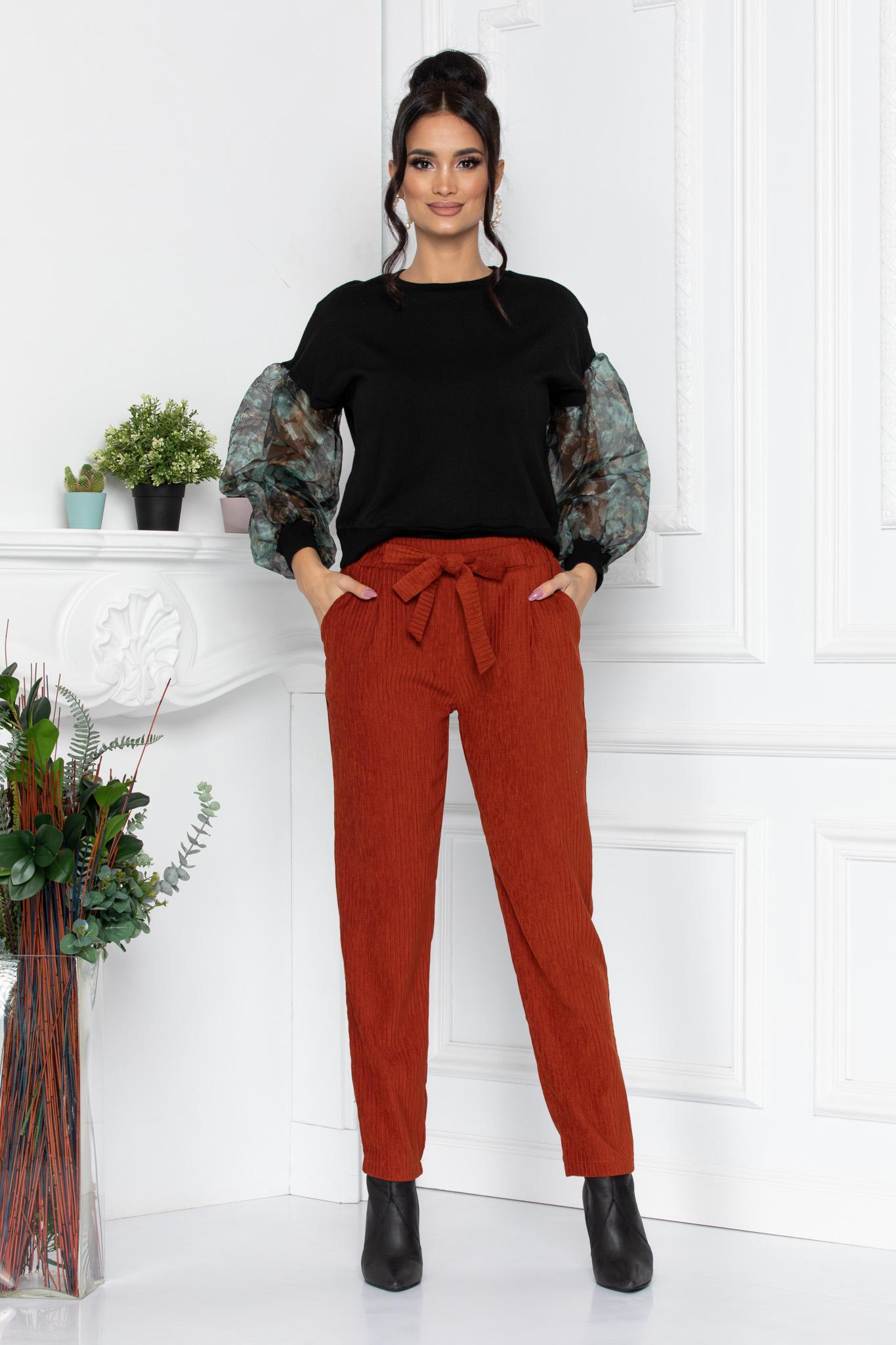 Pantaloni Ginger Caramizii