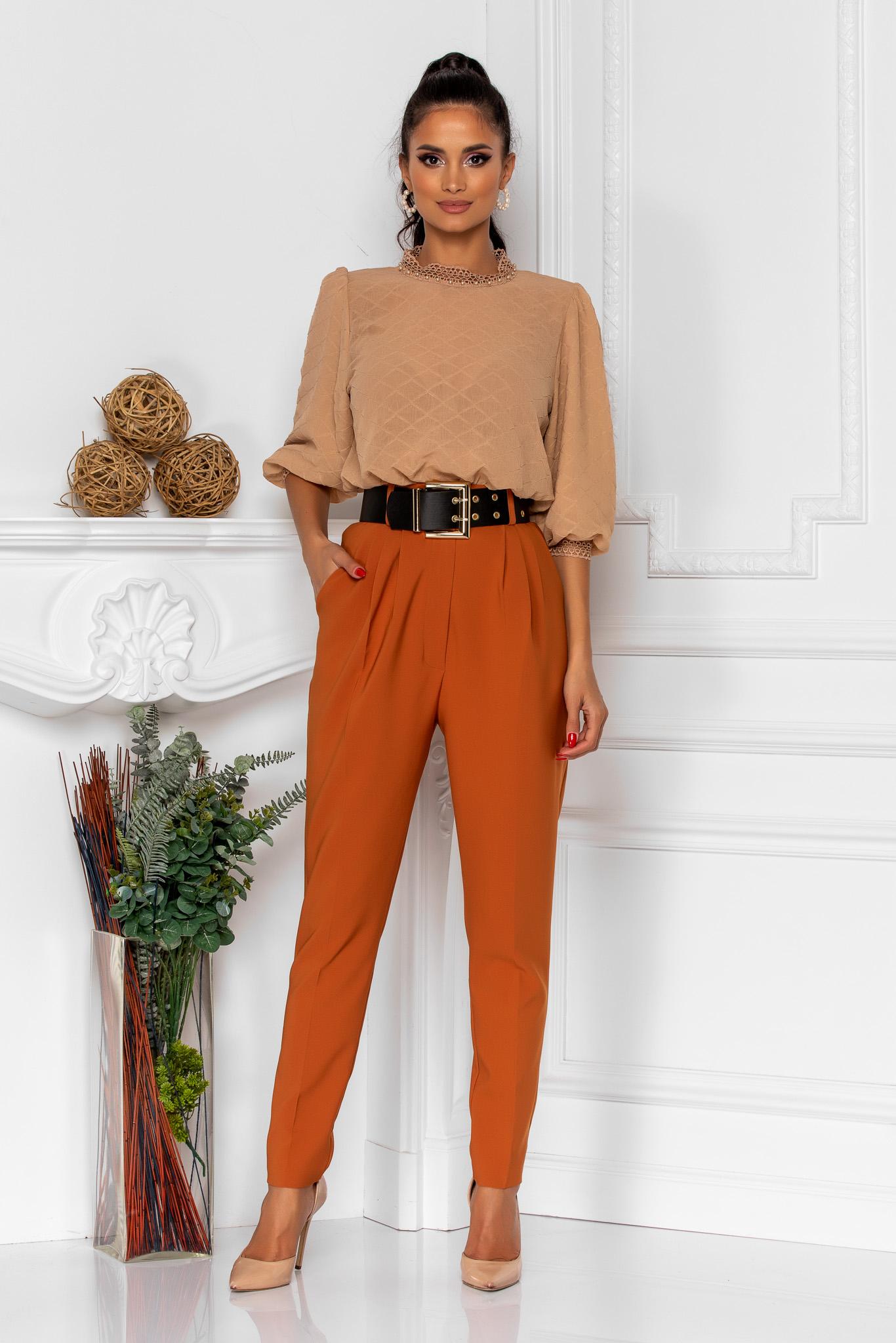 Pantaloni Kamari Caramel