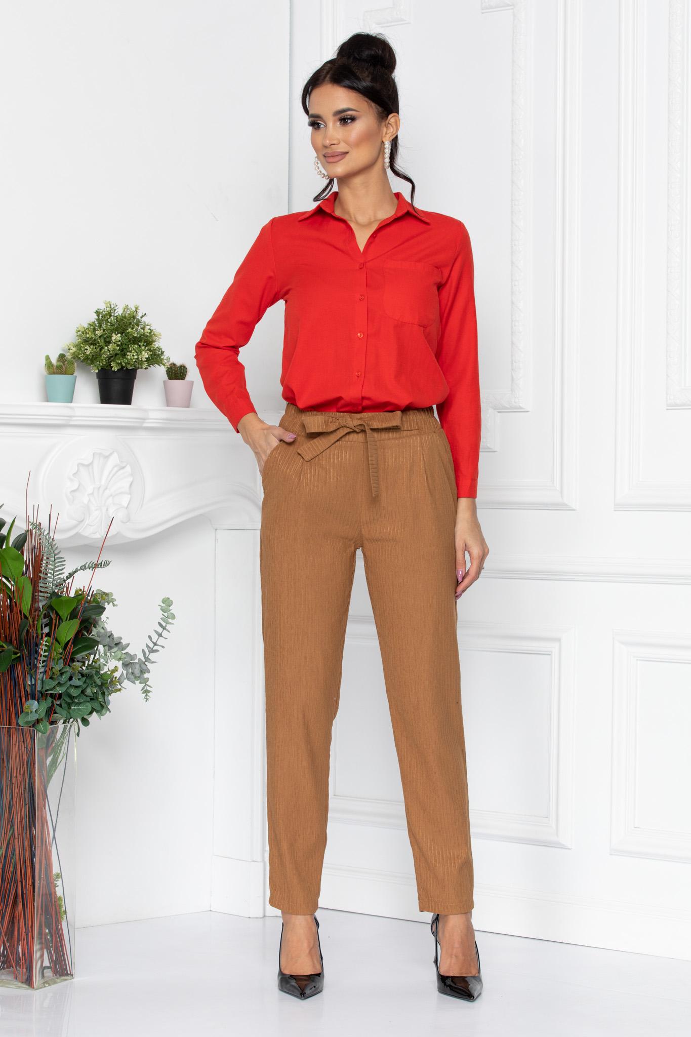 Pantaloni Ginger Maro