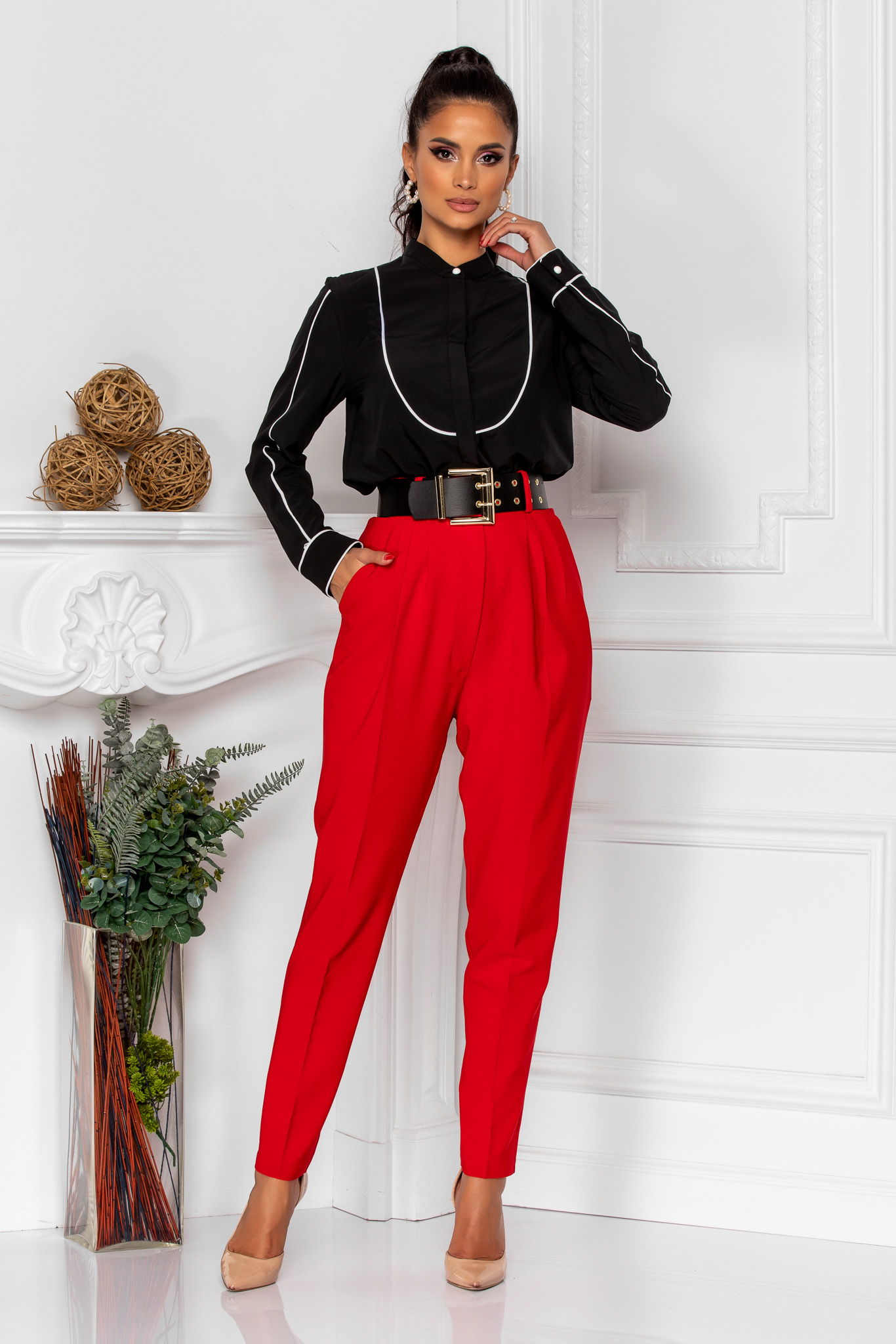 Pantaloni Kamari Rosii