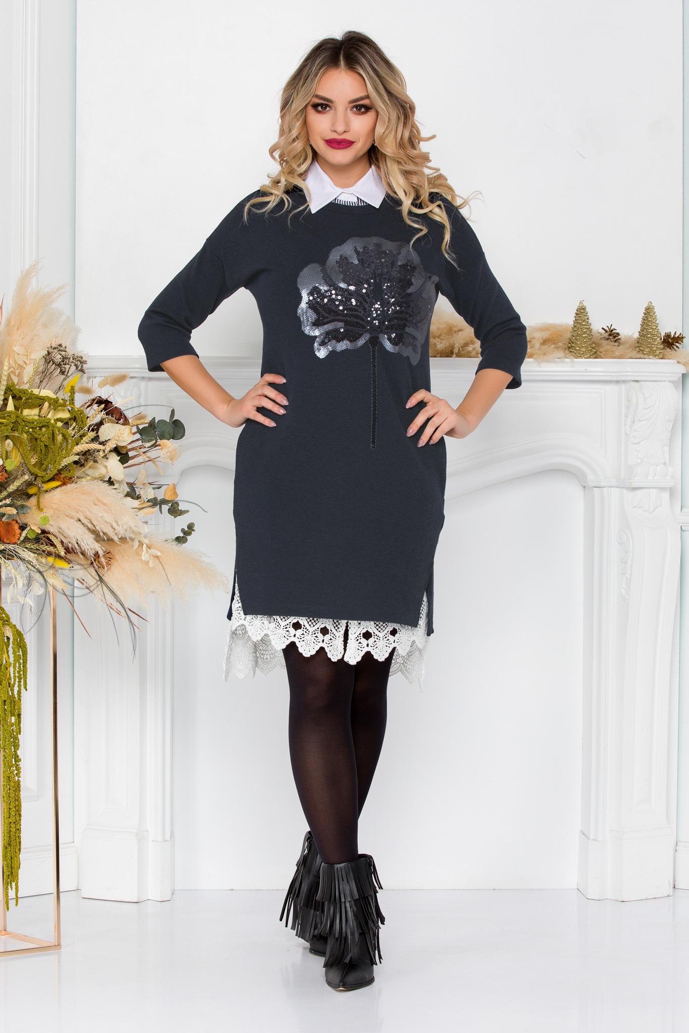 Rochie Elyana Gri