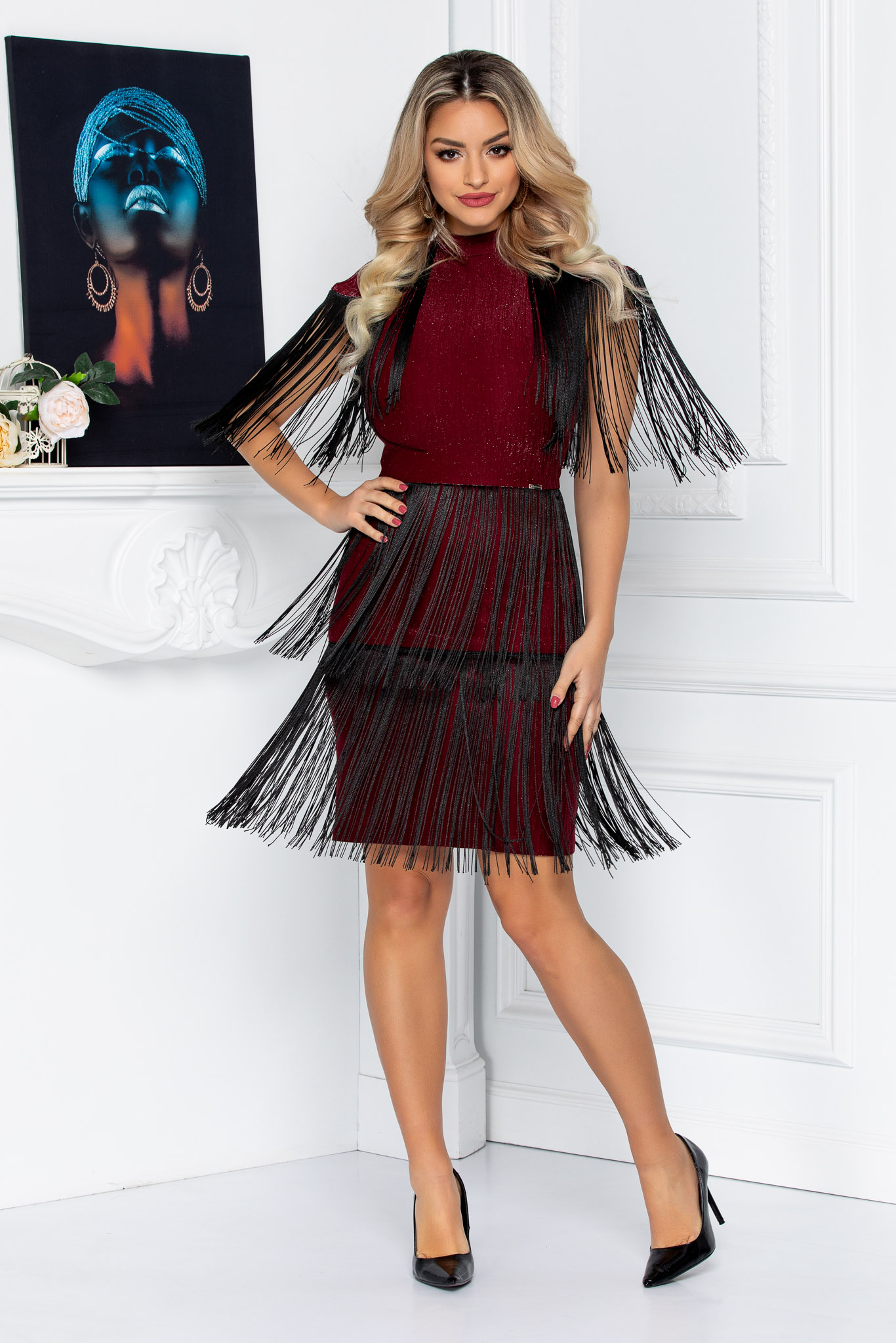 Rochie Party Bordo