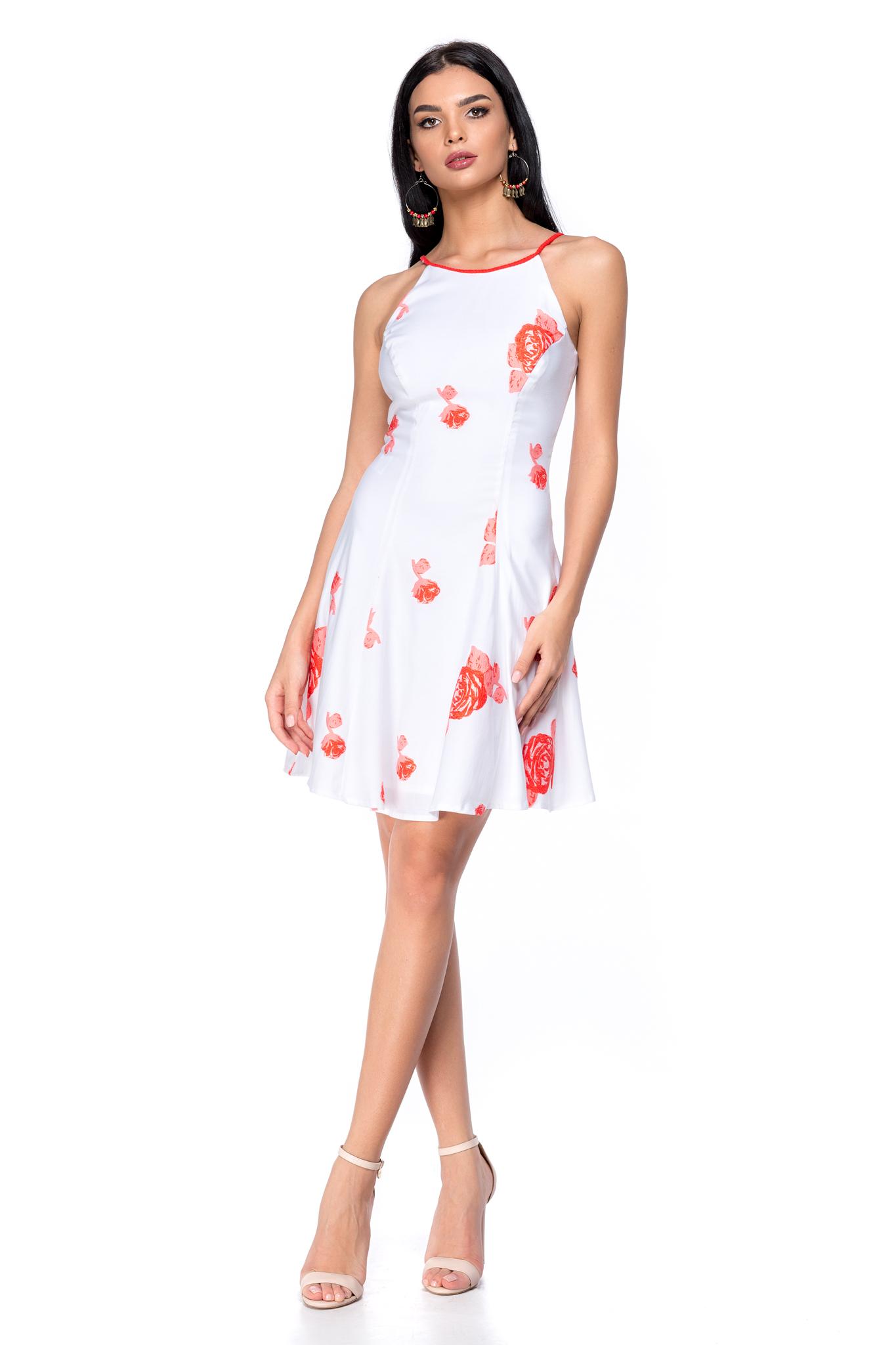 rochie rossie alba