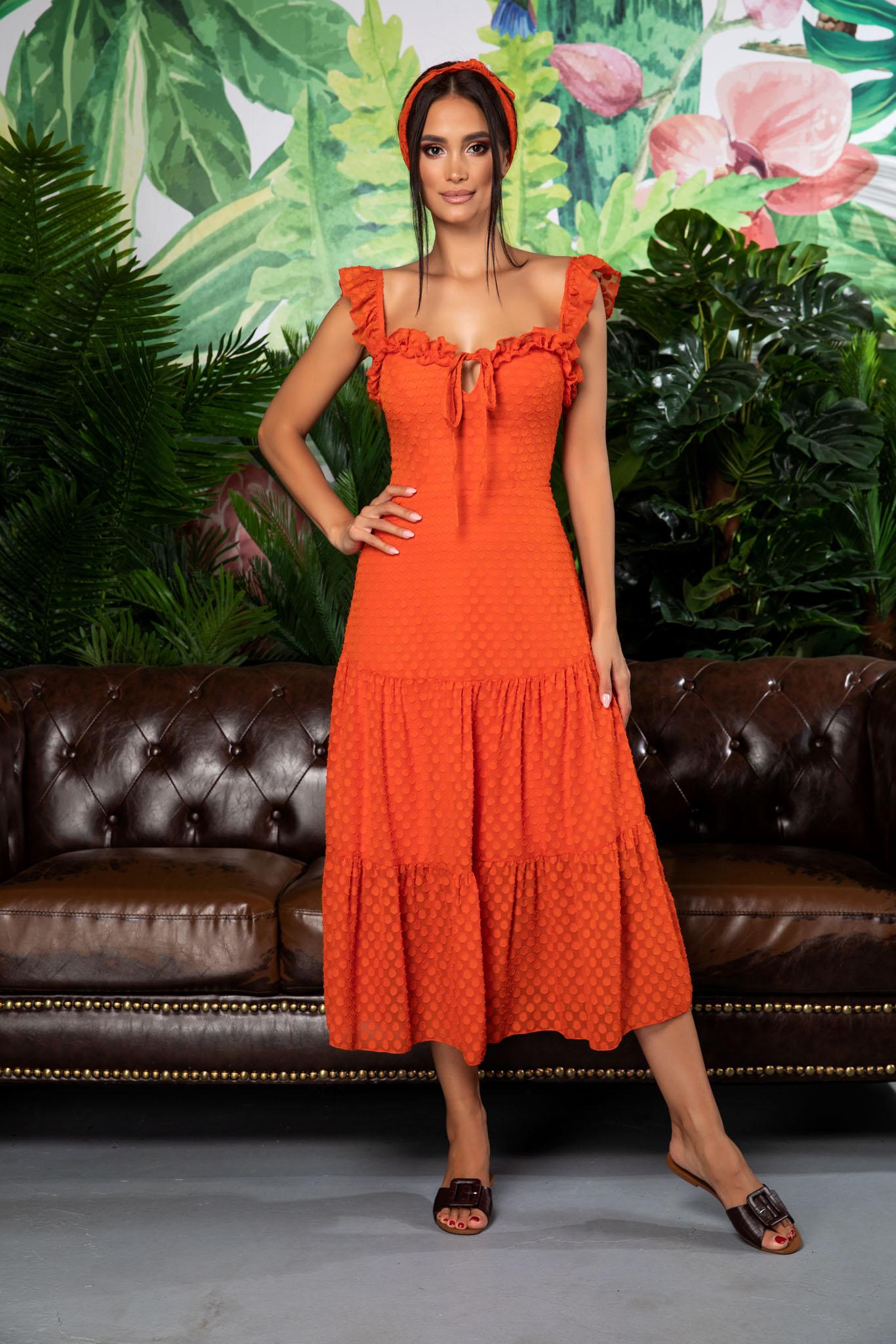 Rochie Romina Orange