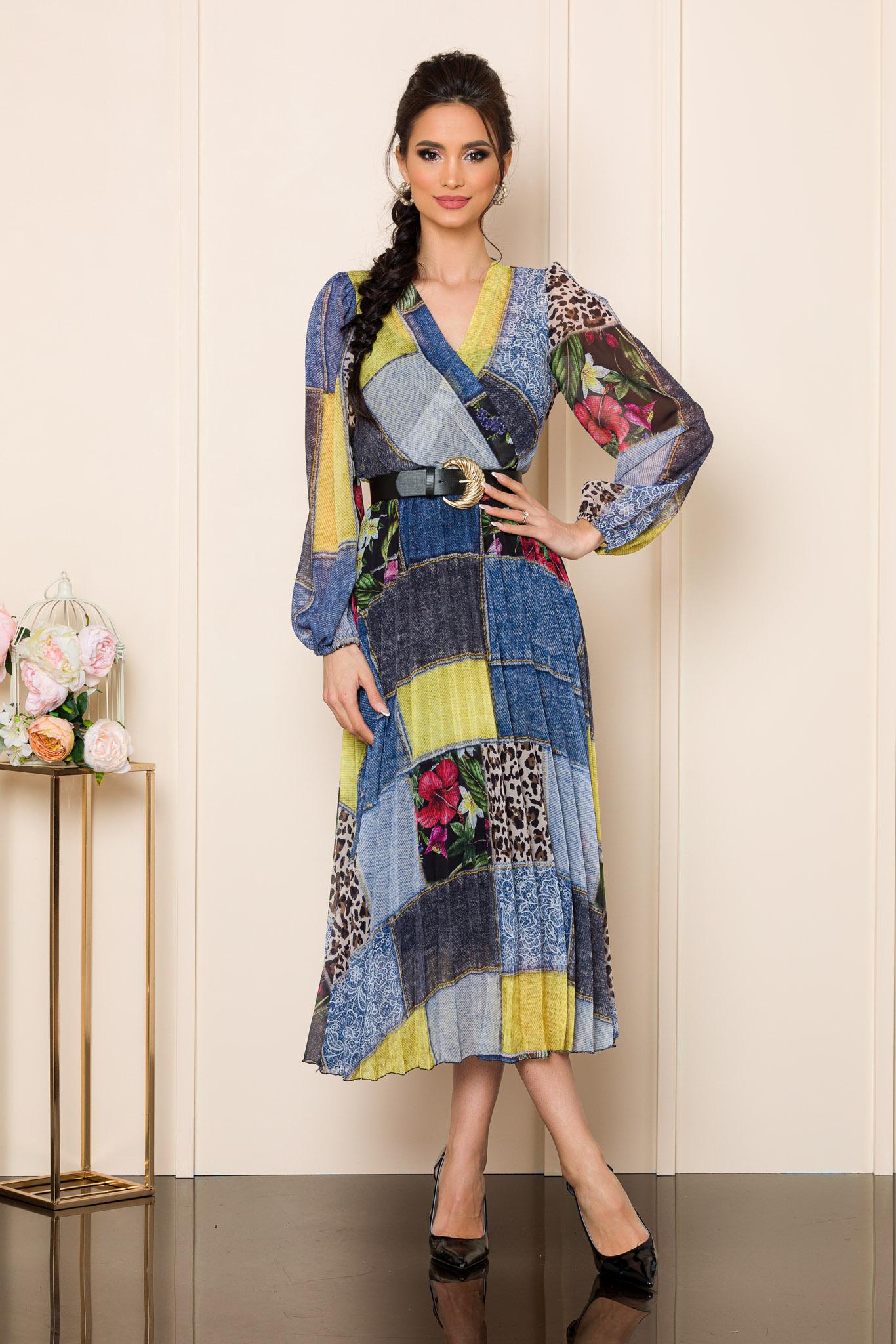 rochie din voal multicolora 2