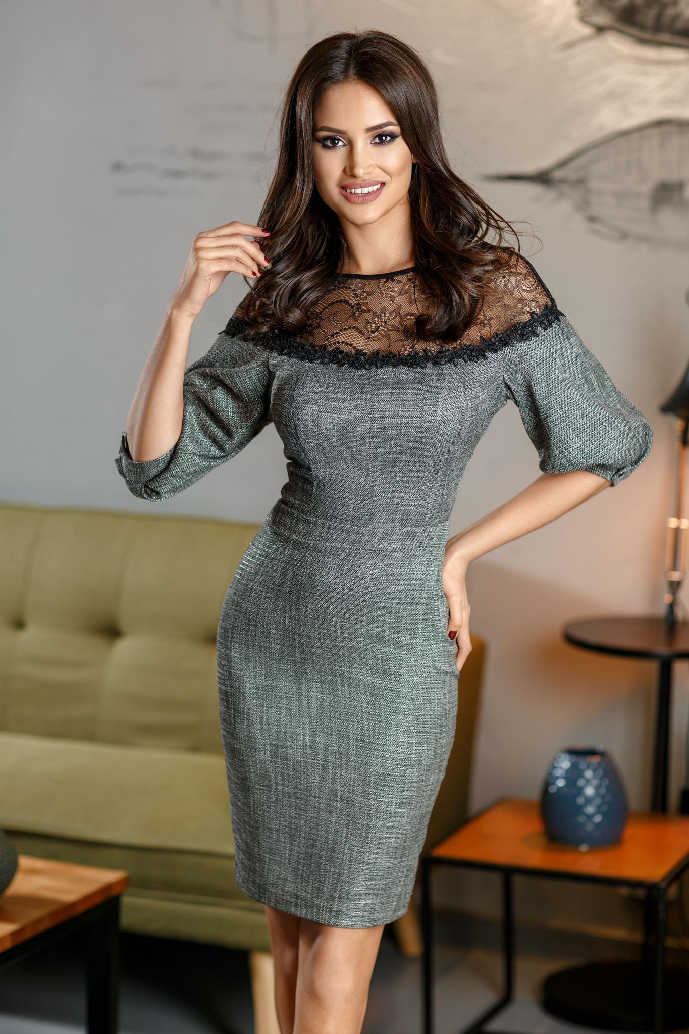 Rochie Angie Gri