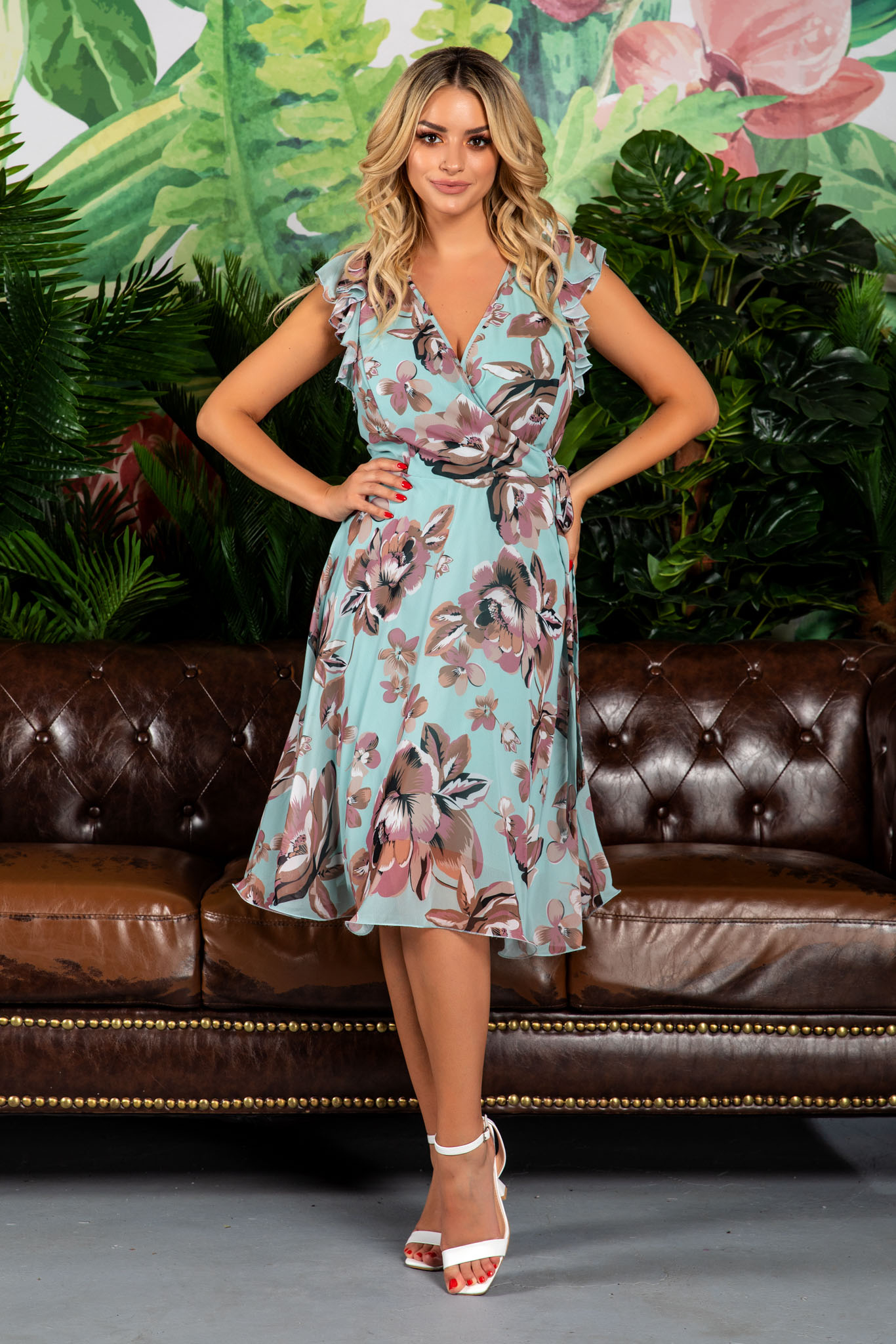 Rochie Heidy Mint Floral