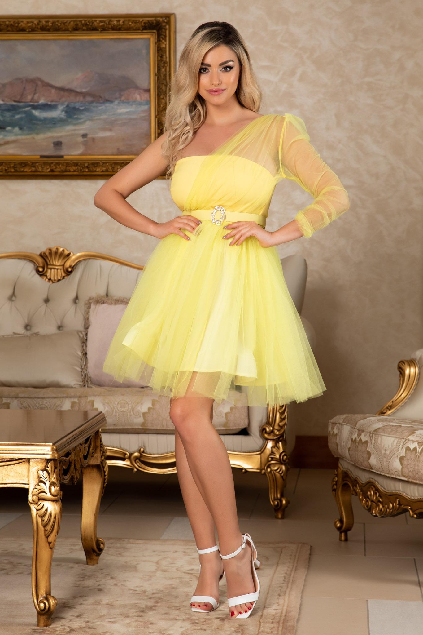 Rochie Princessa Galbena