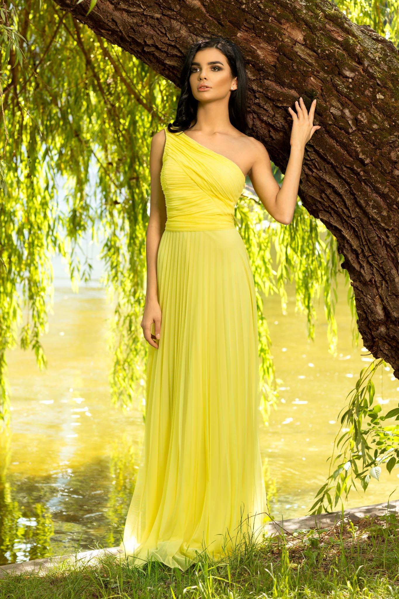 Rochie Divine Galbena