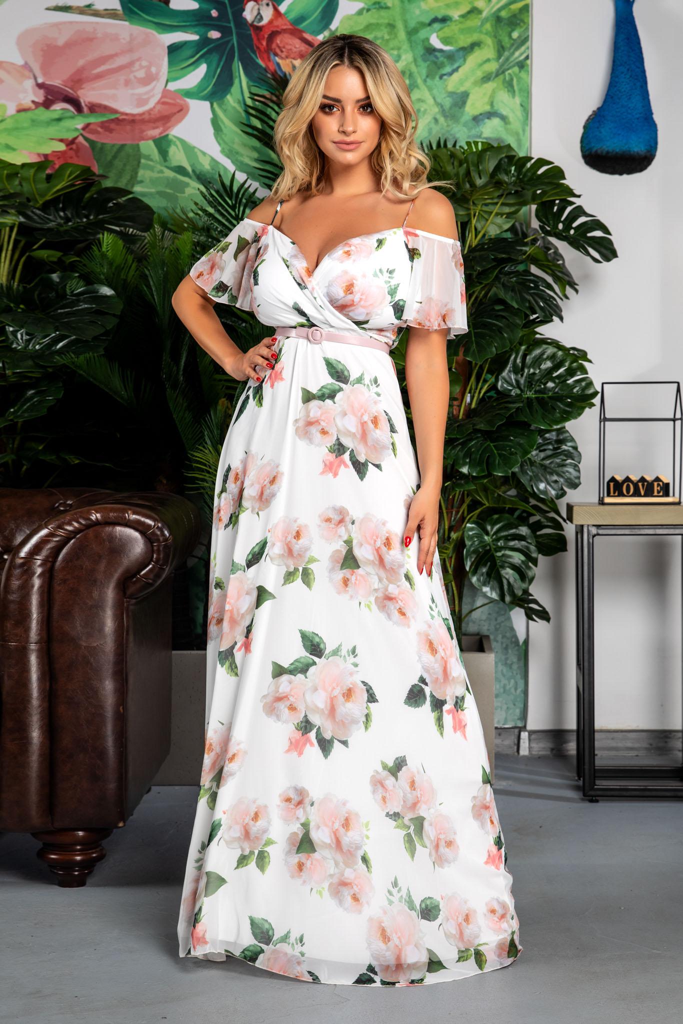Rochie Althea Alb Floral