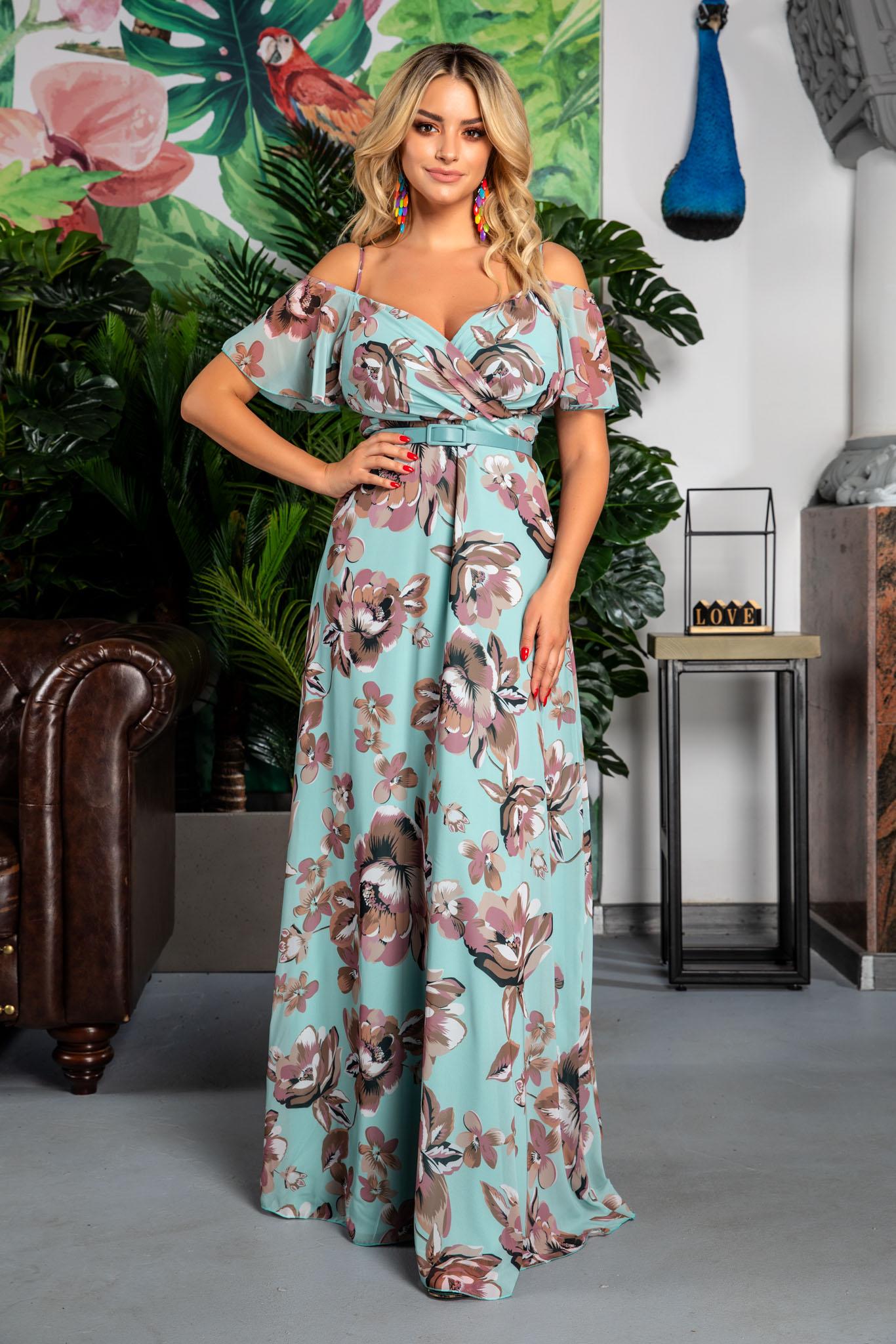 Rochie Althea Mint Floral