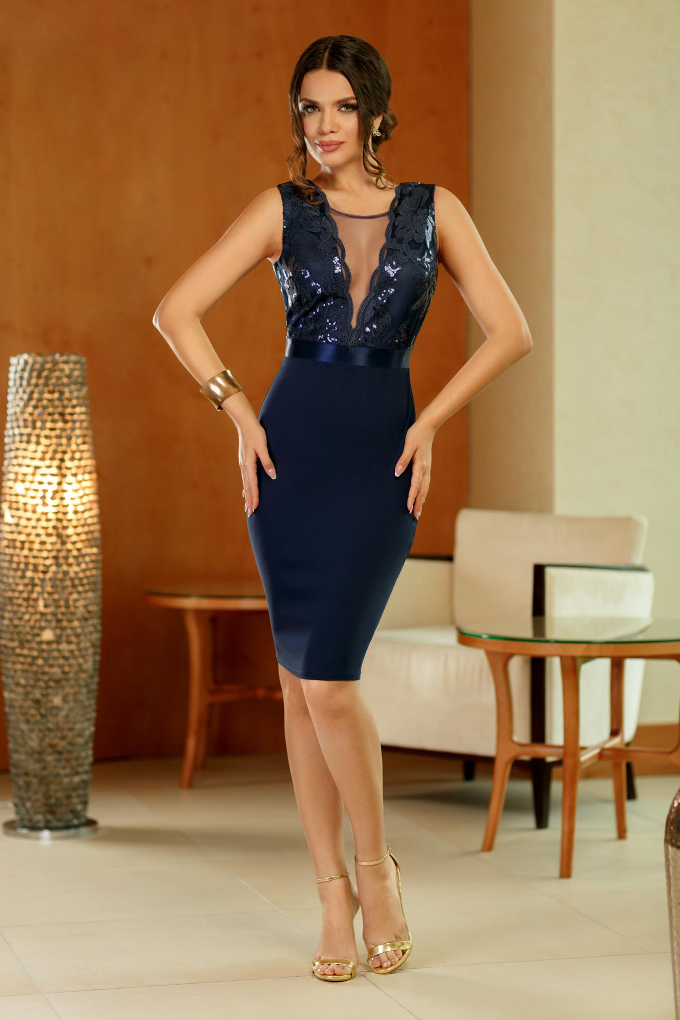rochie elegance bleumarin