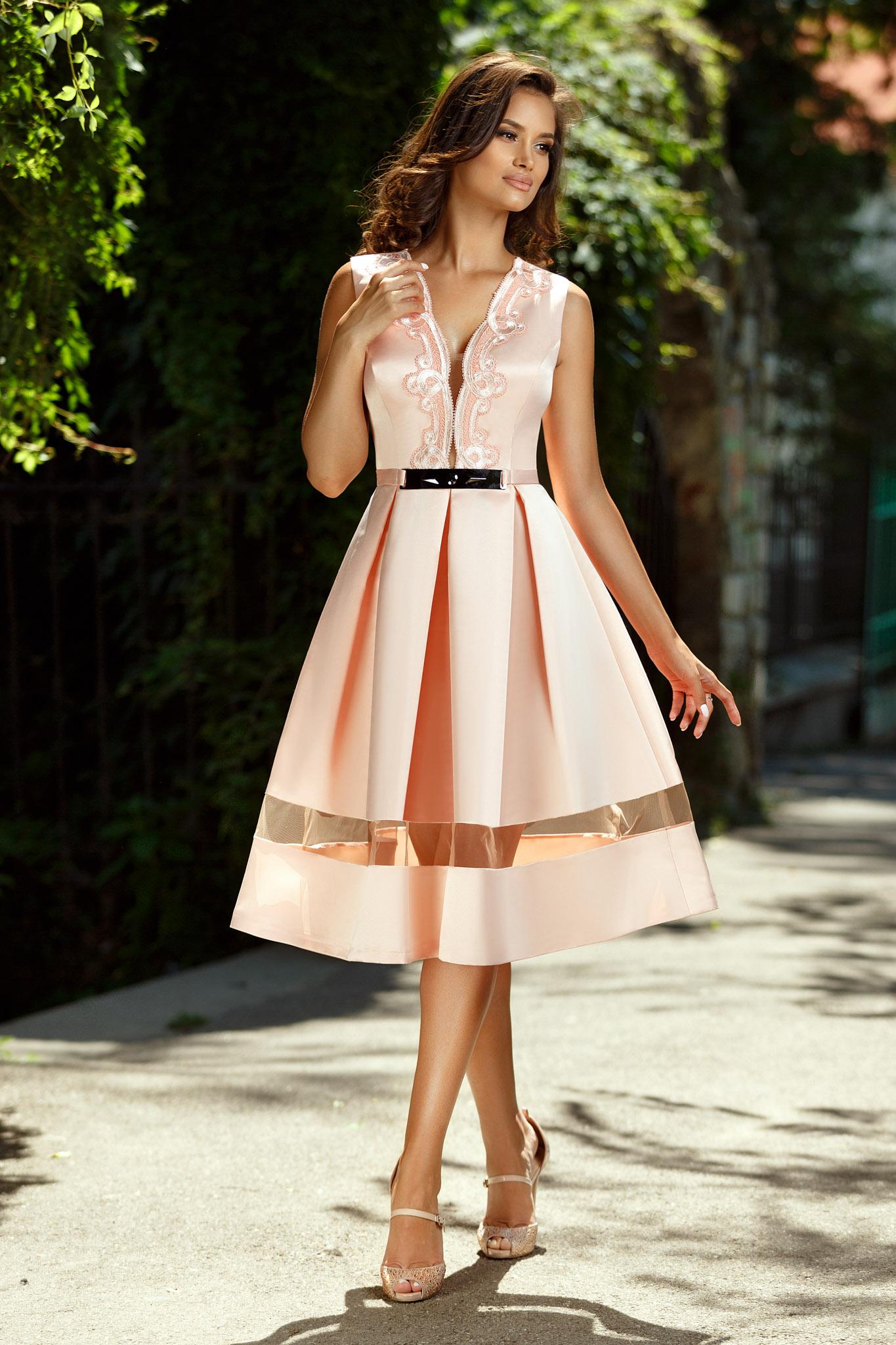 rochie justine peach