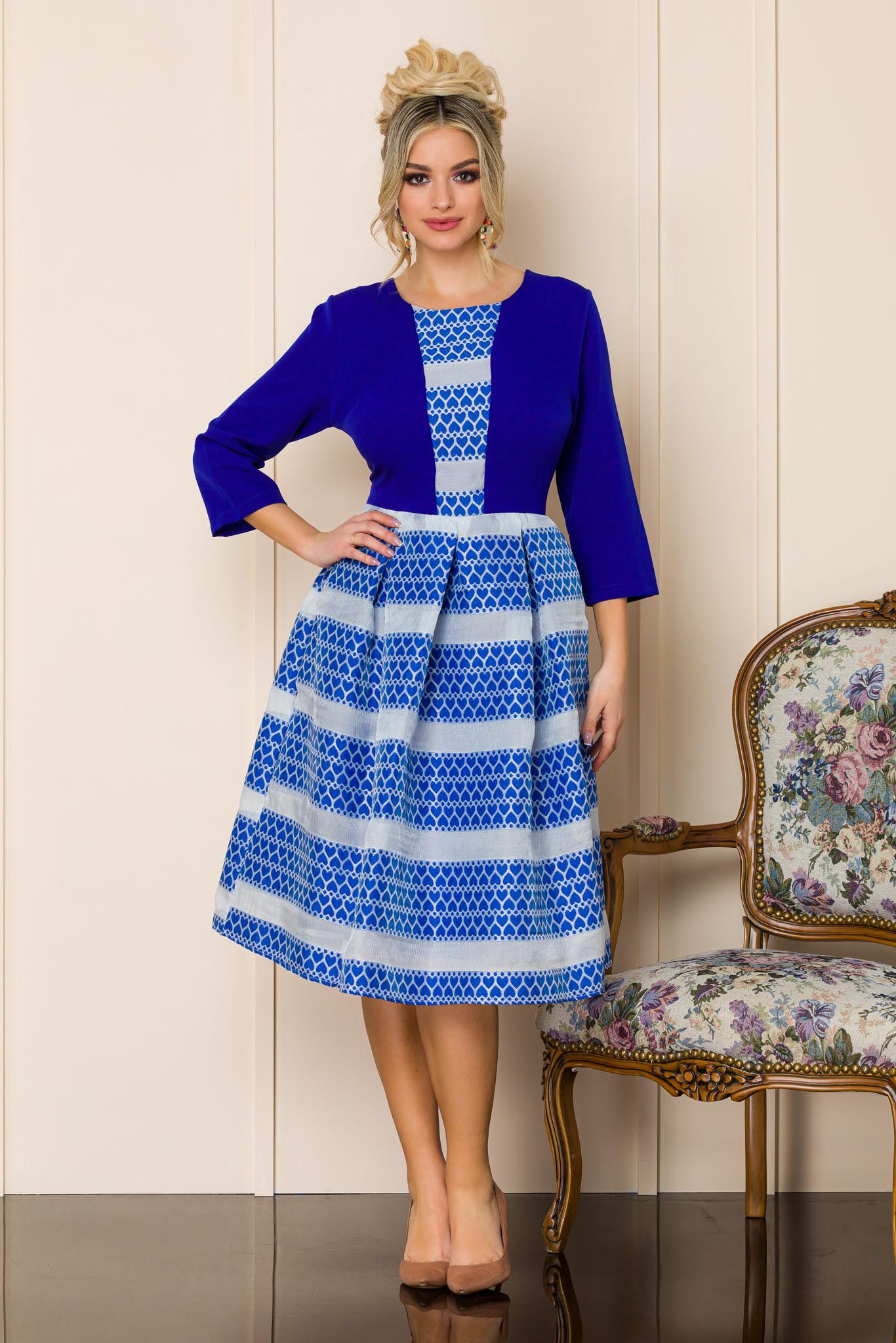 rochie midi eleganta albastra 2 5
