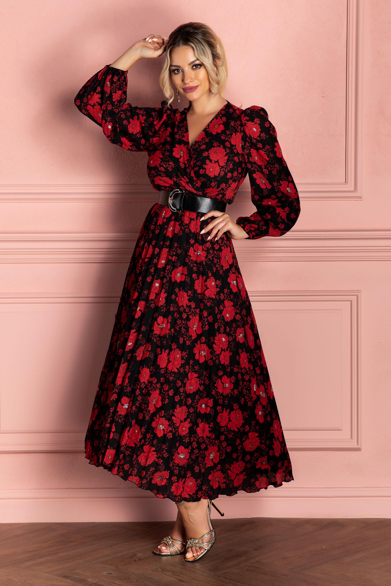 Rochie Malina Rosu Floral