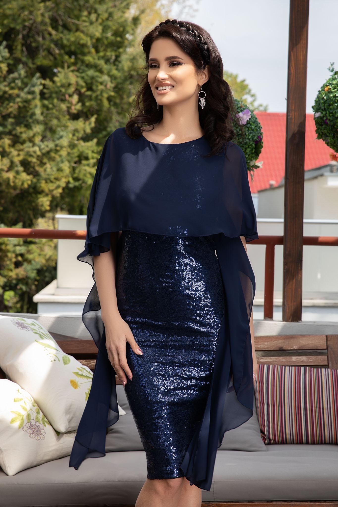 Rochie Thara Bleumarin