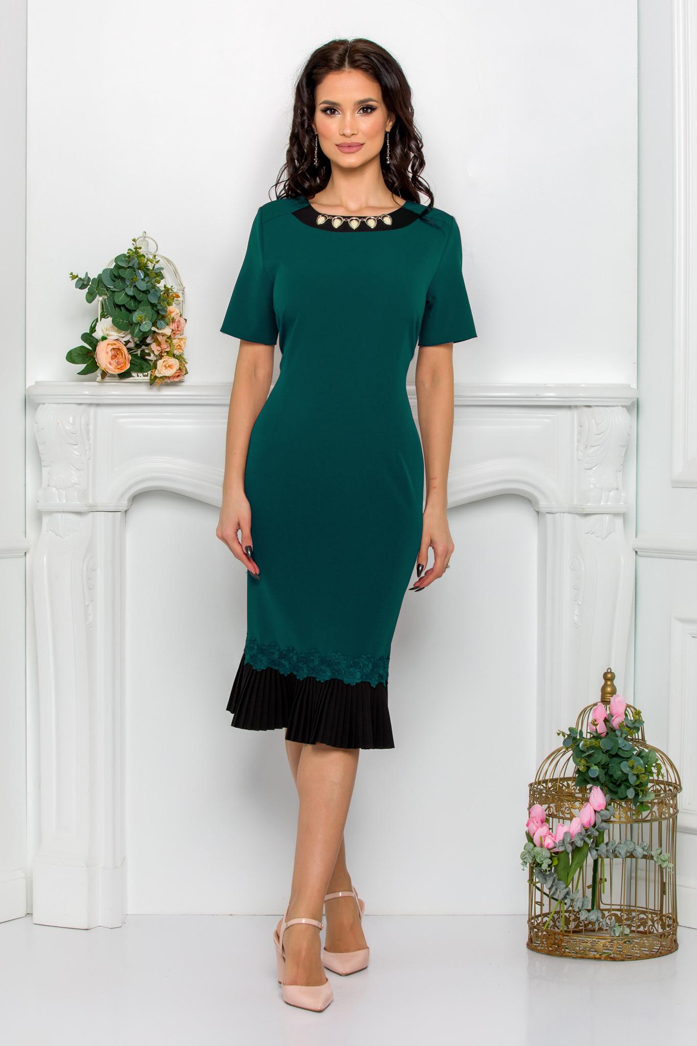 rochie midi eleganta vernil
