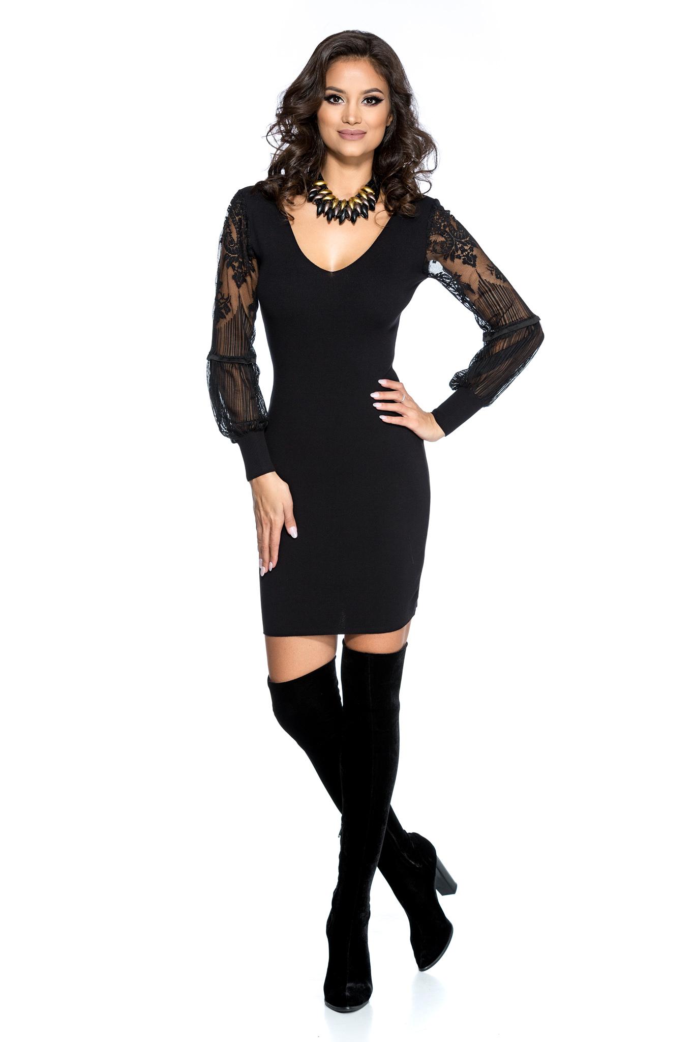 rochie davina neagra
