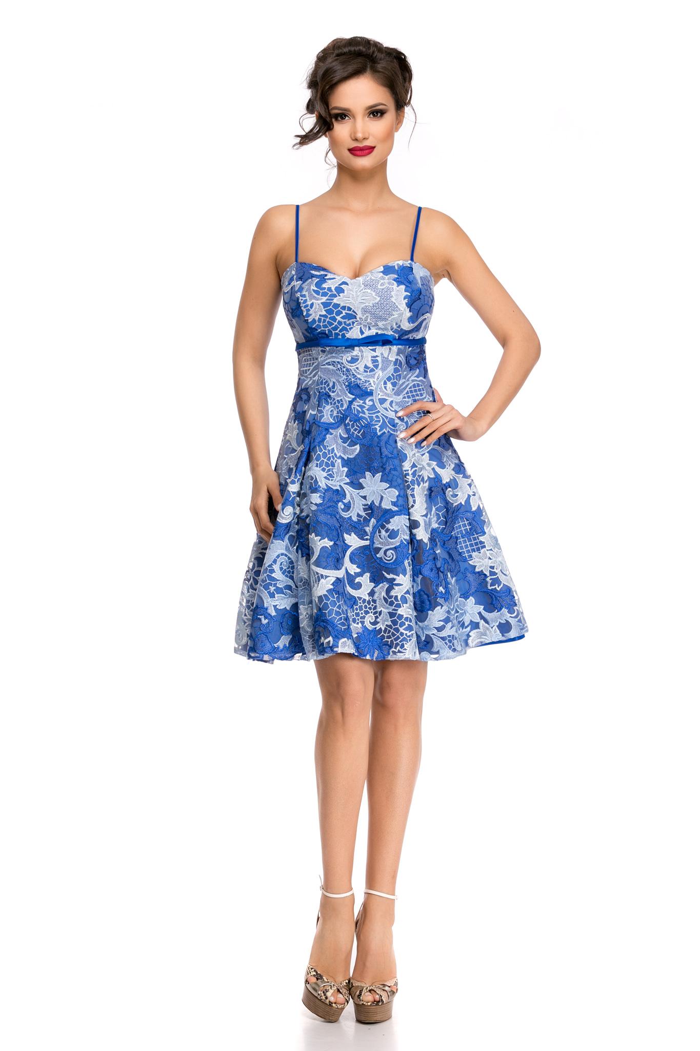 rochie misha albastra