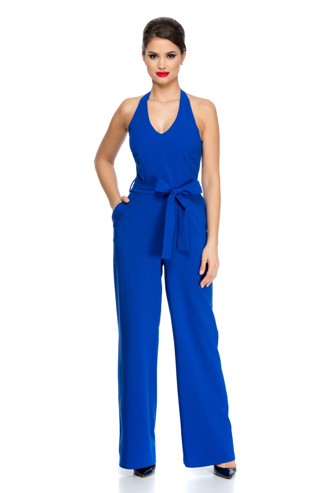 salopeta donna albastra